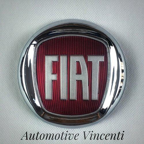 Fregio Stemma Logo FIAT Rosso 500 Punto Multipla Panda Croma Posteriore 95 mm