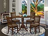5 Pc set Dinette Table with 2 drop leaves and 4 Seat Chairs