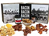 ManSnacks - BACON BACON BACON - Everything for the bacon lover, packed in a manly gift box. Bacon jerky, bacon jam, bacon brittle, and delicious bacon snacks. It's a gift basket for real men