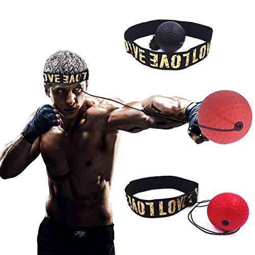 aaerp Boxing Reflex Ball – Fascia Regolabile, reagente e Cordino Elastico. Pallone da Allenamento...