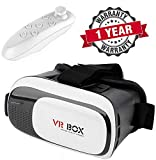 Exxelo 360 Dgeree 3D Glasses Vr Box Virtual Reality Headset with Clear View, Cosy Wearing & Perfect for Long Time Wearing for All Smartphones Having 5.5 Inch Display (VR Box + Controller)