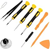 Repair Kit with Tools for All iPhone (4-XS Max), Samsung Galaxy, Note - Magnetic Screwdriver Tool Set for Cell Phones and Mobile Devices - Fix iPhone Screen, Battery with ScandiTech Toolkit