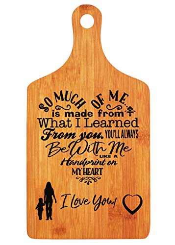 Mothers Gift  Special Love Heart Poem Bamboo Cutting Board Design Mom Gift Mothers Day Gift Mom Birthday Christmas Gift Engraved Side For Dcor Hanging Reverse Side For Usage