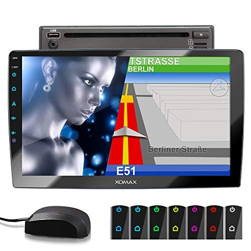 XOMAX XM-2DN1005 Autoradio mit DVD, CD, 10,1 Zoll / 25,7cm Touchscreen Bildschirm, Mirrorlink, GPS...