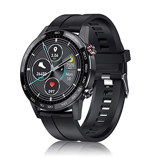 Smart Watch for Android iOS Phones,Fitness Smartwatch for Women Men with Bluetooth 5.0 Heart Rate Sleep Tracker Long Battery Life Message Reminder Music Control IP68 Waterproof Microwear L16