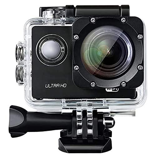 Wivarra Action Camera 1080P 12MP Ultra Full HD WiFi Fotocamera Sportiva Impermeabile Subacquea 30M/98Ft Action Cam 140 Gradi