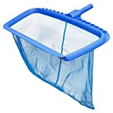 U.S. Pool Supply Professional Heavy Duty 20' Swimming Pool Leaf Rake with Deep 16' Net Bag - Fine Mesh Netting, Easy Scoop Edge - Fast Cleaning, Debris Pickup Removal, Fits Standard Swimming Pool Pole
