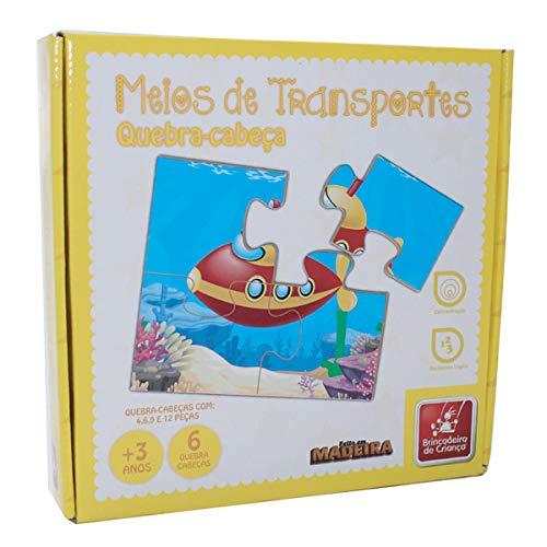 Quebra Cabeça Meios De Transporte - Brincadeira De Criança
