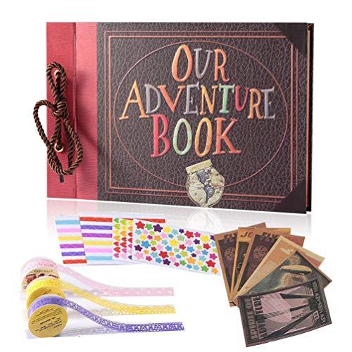 YIHAO Adventure Book Album de Fotos,Libro de Aventura con Ac