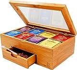 Ecbanli Bamboo Tea Box with Small...
