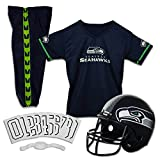 Franklin Sports Seattle Seahawks Kids Football Uniform Set - NFL Youth Football Costume for Boys & Girls - Set Includes Helmet, Jersey & Pants - Medium