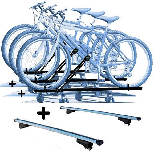 PROPOSTEONLINE Tre Portabici per Tetto Auto Compatibile per Honda HR-V 5p (2015 in Poi) Porta Biciclette universali in Acciaio Incluso di Barre Portatutto
