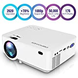 DBPOWER L12 Mini Projector, 176'' 3000L LED Movie Projector, Home...