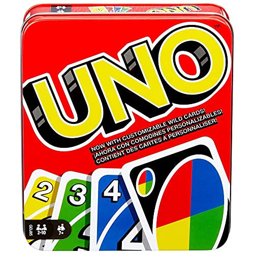 UNO Family Card Game, with 112 Cards in a Sturdy Storage...