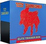 Pokemon TCG: Sword & Shield Elite Trainer Box - Zamazenta   Genuine Cards, Multicolor, Model:728192515118