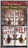 Forum Novelties 2 Piece Giant Bloody Window Posters Halloween Party Decoration