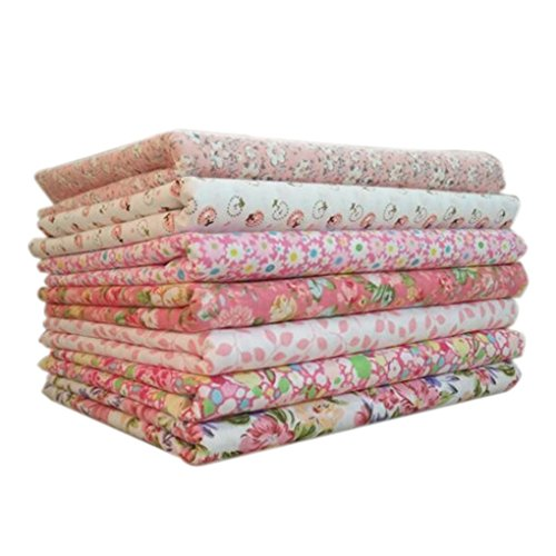 Uzinb 7pcs / Set la Tela de algodón para la Serie Rosa de C