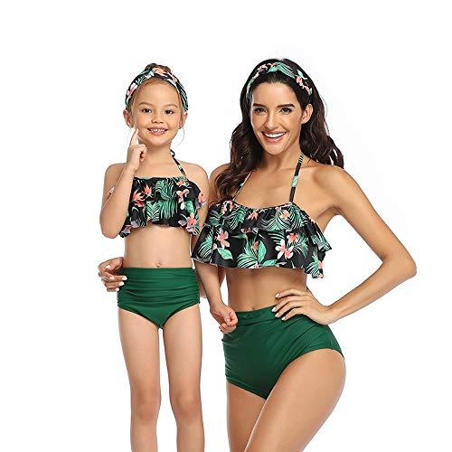 Bonfor Bikini Niña 2-12 años & Bikinis Mujer 2021 Brasileños Braga Alta Marca Volantes...