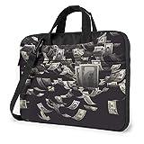 Maletín bandolera para portátil de 15,6 pulgadas, diseño de billetes de dólar de los Estados Unidos para pintar tabletas de negocios