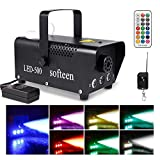 softeen Upgraded Fog Machine with Lights and Preheating Indicator, 500W Party Smoke Machine with Multiple Colors Selections, Halloween Fog Machine with Colorful LED Lights Effect for Christmas Birthda