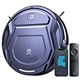 Robot Vacuum Cleaner Wifi Connected Mini Robot Vacuums Cleaner Ultra-thin 1800Pa Suction App Alexa Self-Charging Quiet Automatic Robotic Vacuums for Home Pet Hair Hard Wood Floor Low Pile Carpets