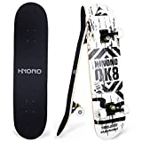 Toyerbee Skateboards with A Repair Kit, 31' x 8' Complete Skateboard for Kids & Adults, 9 Layer...