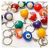 Gzjdtkj Porte-clés 1pc au Hasard Mini Billard en Forme de Porte-clés coloré...