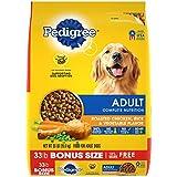 PEDIGREE Complete Nutrition Adult Dry Dog Food Roasted Chicken, Rice & Vegetable Flavor Dog Kibble, 33 lb. Bag