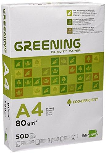 Liderpapel Greening - Papel Fotocopiadora, A4, 80 Gramos, Pa