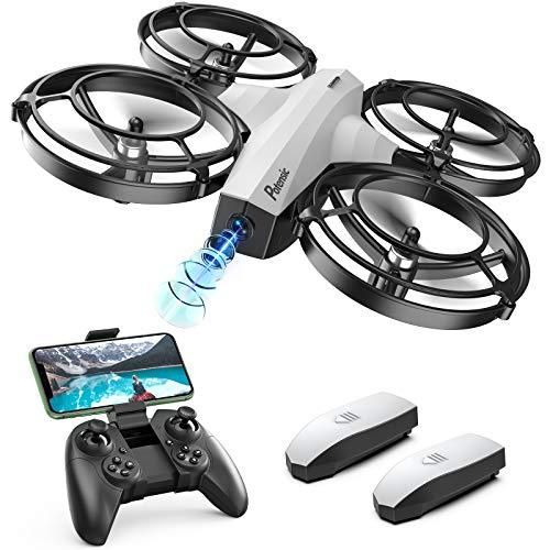 Potensic Mini Drone per Bambini P7 con Fotocamera 720P con 20 Minuti di Volo modalit Combattimento, 2 Batterie, Bianco