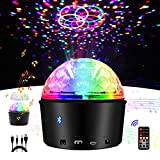 Disco Ball Lights,Exulight Bluetooth Speaker Strobe Party Lights,USB Powered Night Lamp,9 Colors Sound Activated LED Stage Light with Remote Control for Kid Bedroom Christmas Gift (Non-Rechargeable)