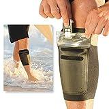 DRFT Waterproof Leg Ankle Pouch for Swimming, Surfing, Kayaking, Fishing, Boating, Running, Biking (Black, Small/Medium)