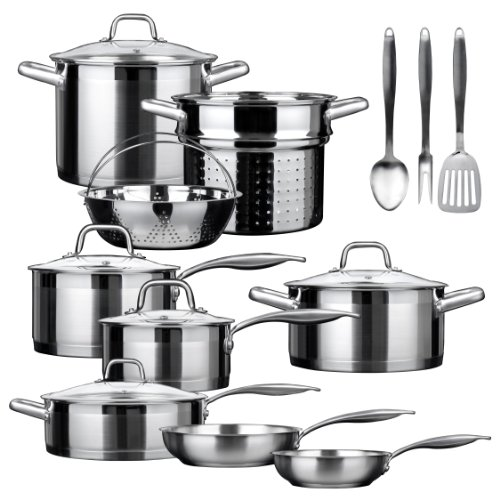 Duxtop SSIB-17 Professional 17 Pieces Stainless Steel Induction...