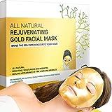Gold Facial Mask - Premium Hydrogel Sheet Face Masks for Skin Care &...