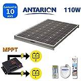 PAN110W2BAT - KIT Panneau Solaire pour Camping Car 110W ANTARION +...