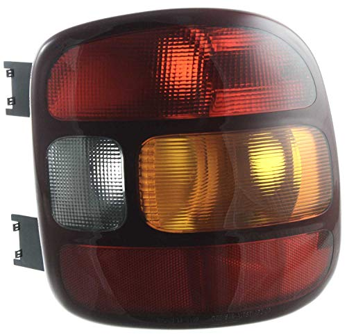Tail Light Lens and Housing Compatible with 1999-2003 Chevrolet Silverado 1500 Stepside Passenger Side