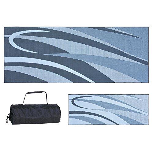 Ming's Mark GC1 Black/Silver 8-Feet x 20-Feet Graphic Mat