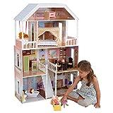 Kidkraft - 65023 - Maison de Poupées en Bois Savannah Incluant Accessoires et Mobilier, 4 Étages de Jeu pour Poupées 30 cm