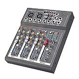 Mingxuanbh 4 Channel Professional Karaoke Audio Mixer Amplifier...