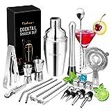 Baban Cocktail Set avec Shaker 22 Pièces en Acier Inoxidable Cocktail de...