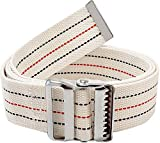 LiftAid Transfer and Walking Gait Belt with Metal Buckle and Belt Loop Holder for Therapist, Nurse, Home Care - 60'L x 2'W (Beige)
