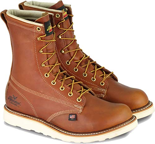 Thorogood Men's American Heritage 8' Round Toe, MAXWear Wedge Safety Toe Boot