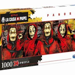 Clementoni- Puzzle 1000 Piezas Panorama La Casa de Papel (39545.3)