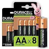 Duracell Piles Rechargeables AA 2500 mAh idéales pour les manettes Xbox, lot de...