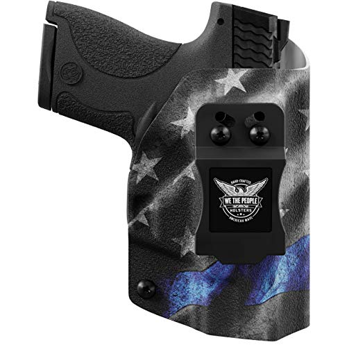 We The People Holsters - Thin Blue Line - Right Hand Inside Waistband Concealed Carry Kydex IWB Holster Compatible with Glock 19 23 32 45 19X Gen 3-4-5