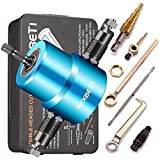 REXBETI Double Head Sheet Nibbler Metal Cutter, Quality Nibbler Drill Attachment for Straight Curve and Circle Cutting, Maximum 14 Gauge Steel