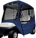Classic Accessories Fairway Golf Cart Travel Enclosure, Navy, Short...
