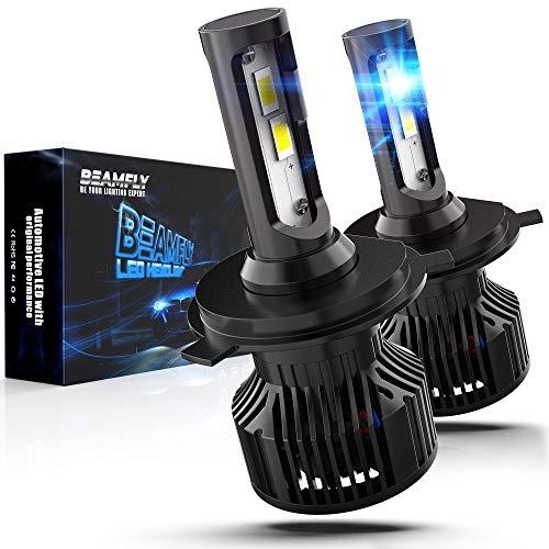 Lampadina H4 HB2 9003 LED 12000LM, BEAMFLY Biluce Lampadine Fari Auto o Moto 80W 12V 6000K Bianco