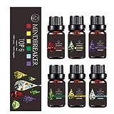Floral Essential Oils Set, Organic Aromatherapy Scented Oils Top 6 100% Pure Therapeutic Premium...