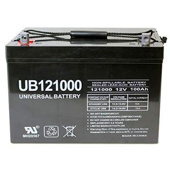 Universal Power Group 12V 100Ah Replacement Battery Compatible with Minn Kota, Minnkota, Cobra, Sevylor trolling Motor